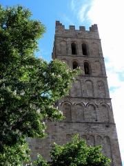 Eglise Sainte-Eulalie (ancienne cathédrale) - Français:   Cathédrale Sainte-Eulalie et Sainte-Julie d\'Elne (66). Façade occidentale. Clocher sud.