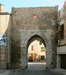 Porte de Perpignan - Deutsch: Porte de Perpignan, 15. Jh., Elne, Frankreich (Ansicht von N)