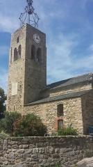 Eglise Saint-Félix - Français:   Clocher de l\'église Saint-Félix de Fillols