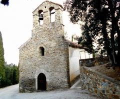Eglise Saint-Saturnin - Català: Façana occidental de Sant Sadurní de Montoriol d'Avall