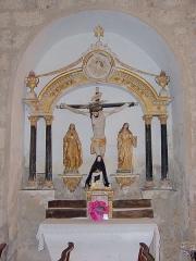 Eglise Sainte-Marie - Retable de la crucifixion, Église Sainte-Marie, Montferrer (Pyrénées-Orientales, Languedoc-Roussillon, France)