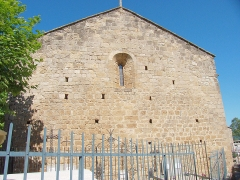 Eglise Sainte-Marie - Vue arrière, Église Sainte-Marie, Montferrer (Pyrénées-Orientales, Languedoc-Roussillon, France)