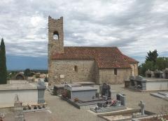 Eglise Saint-Saturnin - English: Église Saint-Saturnin de Montesquieu-des-Albères, 12th century, (view S)