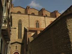 Cathédrale Saint-Jean-Baptiste - Català: Catedral de Perpinyà, detall de la façana sud, carrer de l'Almirall Ribeil