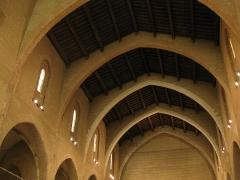 Ancien couvent des Frères Prêcheurs - Català: Església de Sant Domènec (Perpinyà), sostre d'arcs diafragmàtics a la nau gòtica