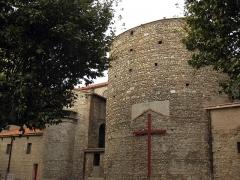 Eglise Notre-Dame de la Réal - Català: Església de Santa Maria de la Real (Perpinyà), vista de la cara sud