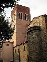 Eglise Notre-Dame de la Réal - Català: Església de Santa Maria de la Real (Perpinyà), vista del campanar i de la façana sud