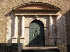 Eglise Notre-Dame de la Réal - Català: Església de Santa Maria de la Real (Perpinyà), portada de 1623, que va substituir l'original de marbre blanc de Ceret, del segle XIV, actualment a l'església de Sant Jaume