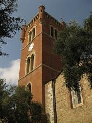 Eglise Saint-Jacques - Català: Església de Sant Jaume (Perpinyà), torre campanar de mitjan segle XIX