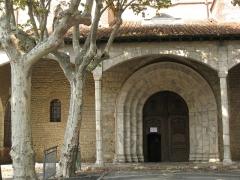 Eglise Saint-Jacques - Català: Església de Sant Jaume (Perpinyà), portada provinent de Santa Maria de la Real
