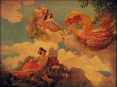 Ancien Hôtel Pams - Català: Casa Pams (Perpinyà), pintura del sostre del celobert, de Paul Jean Gervais