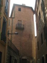 Maison - Català: Casa Julià (carrer de les Fàbriques d'en Nabot, Perpinyà), torre cantonera
