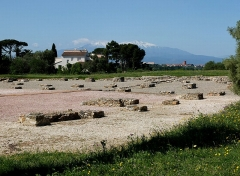 Oppidum gallo-romain de Ruscino - English: Excavation of the Bronze Age oppidum