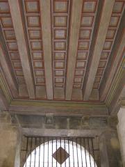 Ancien palais de justice - Català: Palau de la Generalitat o de la Diputació, a Perpinyà; teginat del sostre del vestíbul que porta al pati