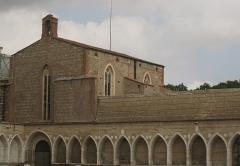 Ancien grand Séminaire - Català: Capella de Sant Joan l'Evangelista, dita la Funerària, i arcs del cementiri de Sant Joan, vora la Catedral, on el 1825 es va construir un nou edifici per al seminari diocesà