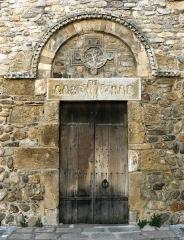 Eglise Saint-André de Sorède - English: Portal of the parish church St-André-de-Sorède (Catalan: Monestir de Sant Andreu de Sureda), 10th-12th century, Saint-André (Pyrénées-Orientales), France).
