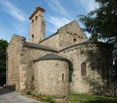 Eglise Saint-André de Sorède - English: Église Saint-André de Sorède, Saint-André (Pyrénées-Orientales, France), view East.