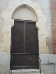 Eglise Saint-André - Français:   Portail de l\'église de Saint-Féliu-d\'Avall