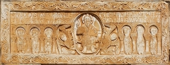 Eglise Saint-Michel - English: Lintel (11th century) of the main portal of