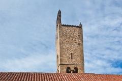 Eglise Saint-Fructueux - Français:   Clocher de l\'église Saint-Fructueux, Taurinya, Pyrénées-Orientales