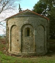 Chapelle Saint-Etienne-de-Villerase - Deutsch: Apsis der Église Saint-Étienne de Vilarasa, Saint-Cyprien (Pyrénées-Orientales), Frankreich
