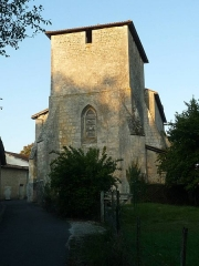 Eglise Saint-Caprais - English: church of Agris, Charente, SW France