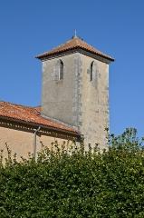 Eglise Saint-Martial - Français:   Clocher de l\'église Saint-Martial de Chalais, Charente, France.