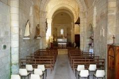 Eglise Saint-Christophe - Français:   Intérieur de l\'église Saint-Christophe de Champagne-Vigny, Charente, France.