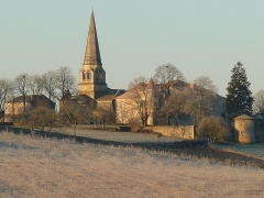 Eglise Notre-Dame - English: view in winter of Charmant, Charente, SW France