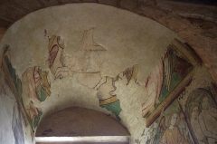 Prieuré Saint-Jean-Baptiste - Français:   Prieuré de Ronsenac, Charente, France - Fresque du 14e siècle.