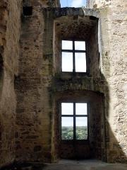 Ruines du château - Deutsch:   Schlossruine in Saint Germain de Confolens, Charente, Frankreich. Fenster in einem der Türme