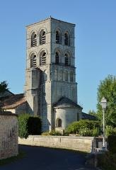 Eglise Saint-Pierre - Français:   Clocher et abside de l\'église de Sers, Charente, France.
