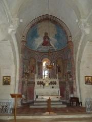Eglise Saint-Pierre - English: Inside of church of Arces (Charente-Maritime), SW France