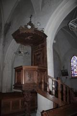 Eglise Saint-Etienne - Chaire, église Saint-Étienne, Fr-17-Ars-en-Ré.