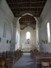 Eglise paroissiale Saint-Jacques - English: Belluire (Charente-Maritime) Église Saint-Jacques, intérieur