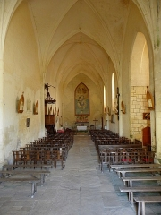 Eglise de la Trinité - Français:   Église Saint-Sauveur de Bignay (17). Intérieur.