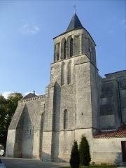 Eglise Saint-Vivien -  Clocher de l\'église de Bords