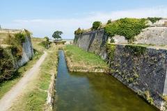 Citadelle et fortifications - Fortifications de la citadelle du Château-d'Oléron (Charente-Maritime, Nouvelle-Aquitaine, France).