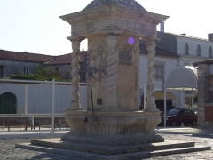 Fontaine - This building is indexed in the Base Mérimée, a database of architectural heritage maintained by the French Ministry of Culture,under the reference PA00104646 .