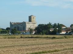 Eglise Saint-Martin - Esperanto: Preĝejo Saint-Martin en Esnandes (Charente-Maritime, Francujo) vidata el kampo norde de la vilaĝo.