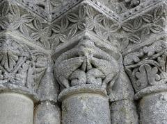 Eglise Notre-Dame - Français:   Église Notre-Dame-de-l\'Assomption de Fenioux (17). Chapiteau du portail nord.