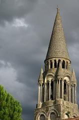 Eglise Notre-Dame - Français:   Détail du clocher de l\'Église Notre-Dame de l\'Assomption de Fenioux