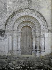 Eglise Notre-Dame - Français:   Église Notre-Dame-de-l\'Assomption de Fenioux (17). Portail nord.
