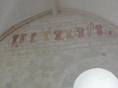 Eglise Saint-Barthélémy - English: Grandjean (Charente-Maritime) église, peintures murales