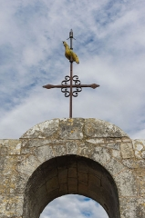 Eglise Saint-Pierre - English: Church Saint-Pierre at Marsilly, the weather vane, Charente-Maritime, France