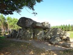 Dolmen dit La Pierre Folle - Nederlands:   Dolmen - La Pierre Folle genaamd - van Montguyon (Montis guidonis - Mont de Guy), Charente-Maritime, Poitou-Charentes.  Dit megalithisch monument stamt uit het neolithicum - in dit geval rond 4500 - 4000 jaar v. C. Het heeft een overdekte galerij en een indrukwekkende deksteen. De grootste steen weegt bij de 30 ton. Het geheel was oorspronkelijk met aarde bedekt (tumulus) en had een graffunctie.