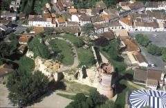 Château - Français:   Vue générale de Montguyon montrant la probable motte castrale initiale.