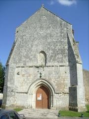 Eglise de la Nativité de la Sainte-Vierge -  La façade de l'église Notre-Dame de Nancras