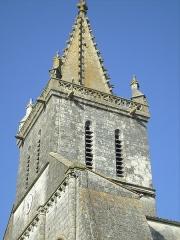 Eglise Saint-Pierre -  Clocher de l'église de Pont-l'Abbé-d'Arnoult (17).