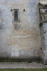 Eglise Saint-Vincent - Français:   Trace d\'arc doubleau sur le mur nord du transept de l\'église Saint-Vincent de Réaux, Charente-Maritime, Poitou-Charente, France.